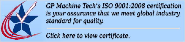 GP Machine ISO Certificate